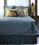 Ann Gish Dupione Big Diamond Quilted Coverlet - Island