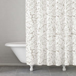 Kassatex Foglia Shower Curtain - Taupe
