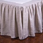 Pom Pom at Home Gathered Linen Bed Skirt -Flax