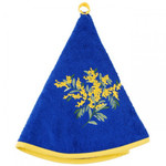 Provence Mimosa Round Terrycloth Towel - Blue