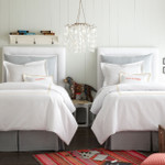 Peacock Alley Pique Tailored Coverlet - Linen