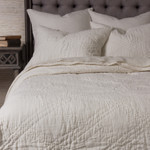 Amity Home Barcelona Linen Quilt - Ivory