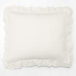 Amity Home Basillo linen Dutch Euro Pillow - Ivory