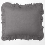 Amity Home Basillo linen Dutch Euro Pillow - Neutral Grey