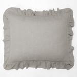 Amity Home Basillo linen Dutch Euro Pillow - Platinum Grey