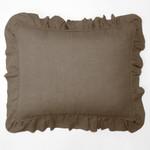Amity Home Basillo linen Dutch Euro Pillow - Walnut Brown