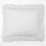 Amity Home Basillo linen Dutch Euro Pillow - White