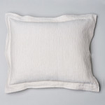 Amity Home Dante Matelassé Dutch Euro Pillow - Sandshell