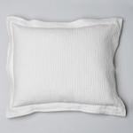 Amity Home Dante Matelassé Dutch Euro Pillow - White