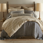 Amity Home Kent Linen Bedspread - Indigo/Natural