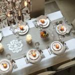 """Crown Linen 114"""" Linen Table Runner - Flax"""