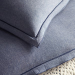 Amity Home Banks Chambray Duvet Cover - Cloud Blue