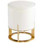 Cyan Design Opal Throne Ottoman - Cream