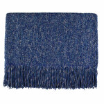 Kenebunk Home Melange Throws - Steel Blue