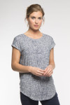 Bamboo Dreams® Cassidy Tunic - Navy/Crosshatch