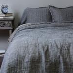 Amity Home Kent Linen Bedspread - Asphalt/Natural