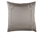 Lili Alessandra Vendome Euro Pillow - Taupe Silk & Sensibilty with Fawn Velvet