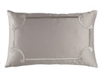 Lili Alessandra Vendome Small Rectangle Pillow - Taupe Silk & Sensibilty with Fawn Velvet