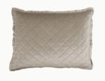 Lili Alessandra Chloe Fawn Velvet Standard Pillow
