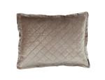 Lili Alessandra Chloe Champagne Velvet Standard Pillow