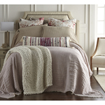 Amity Home Kent Linen Bedspread - Lavender/Natural