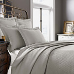 Kassatex Diamante Quilted Coverlet - Flax