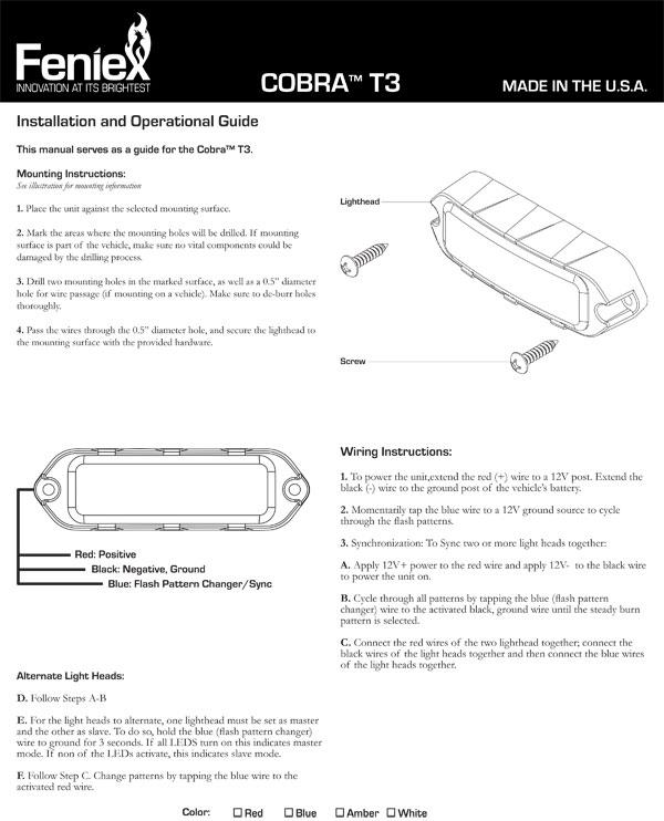 cobra t3 led from feniex industries lone star public safety rh lonestarpublicsafety com Best Fenix Light Red Warning Light