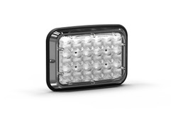 Wide LUX A-6400 LED light with Clear Lens, Front View