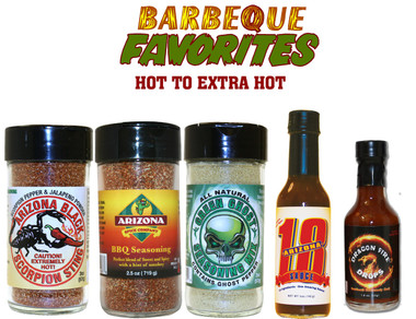 This Special Contains: Black Scorpion Sting, BBQ Rub, Green Ghost ®, Arizona 18, Dragon Fire Drops