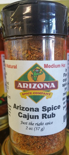 New: Our own special Cajun Rub blend.   Spicy and flavorful.