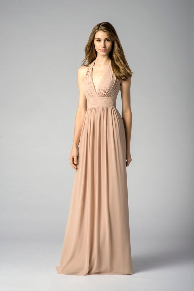 Watters bridesmaids dress 7547 blush bridal ombrellifo Image collections