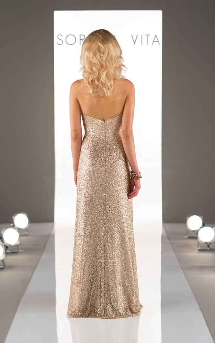 Sorella Vita Sequin Bridesmaid Dress Style 8794 Blush