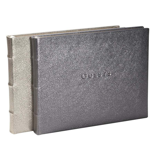 Guest Book-Metallics Leather
