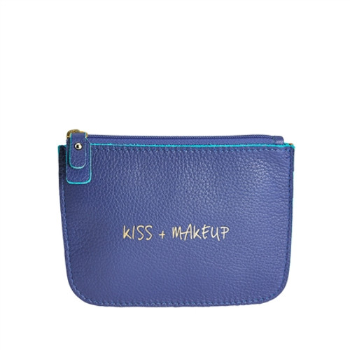 Kiss & Makeup Leather Pouch