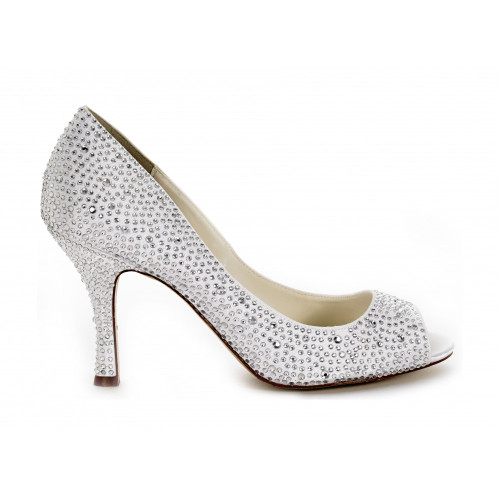 Celebrate Open Toe Crystal Bridal Shoes