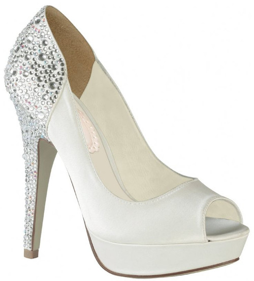 Starry Dyeable Satin Bridal Pump