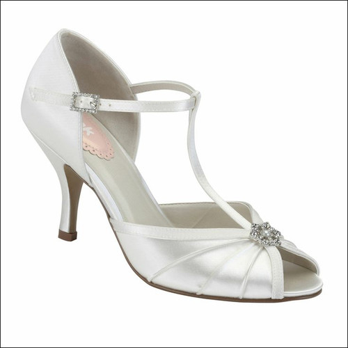 Perfume Dyeable Satin Open Toe Shoes