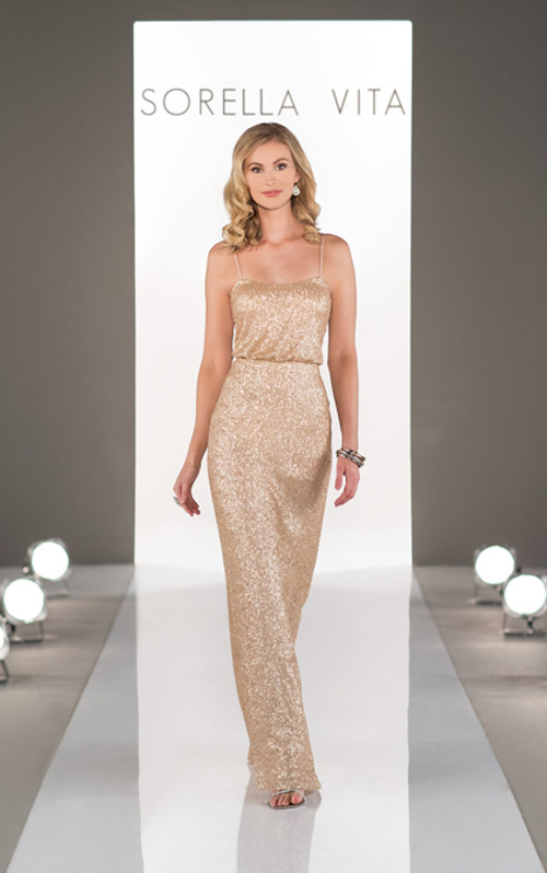 Sorella Vita Sequin Bridesmaid Dress 8690
