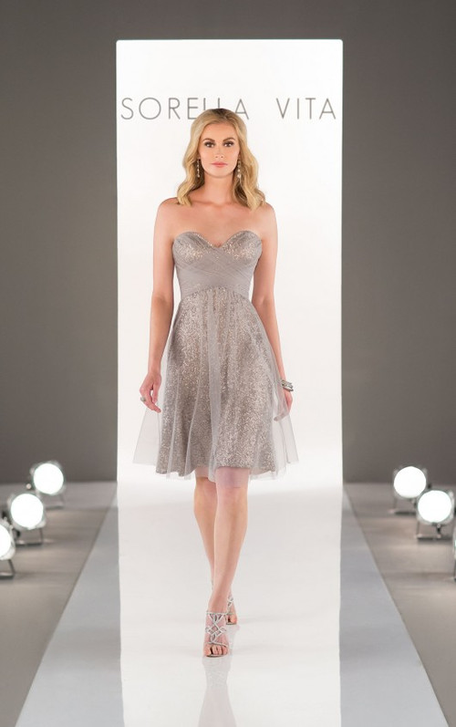 Sorella Vita Sequin Bridesmaid Dress 8683