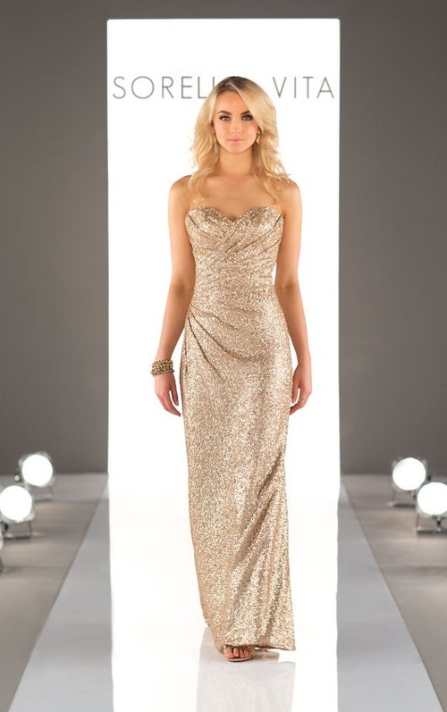 Sorella Vita Sequin Bridesmaid Dress 8794