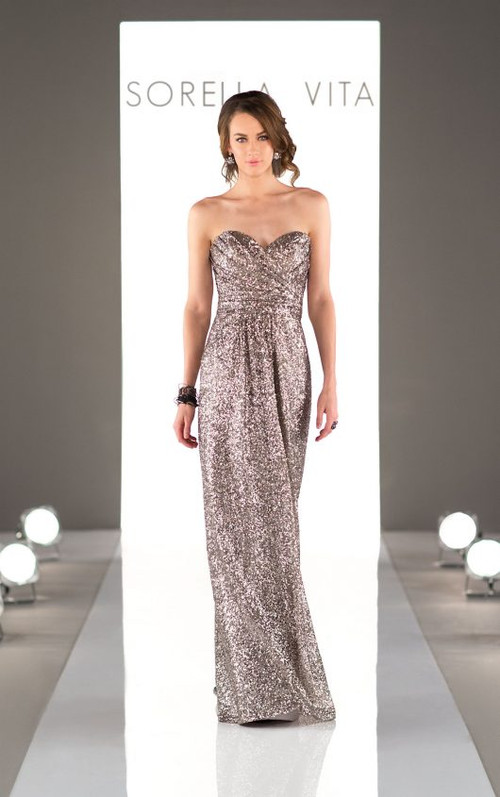 Sorella Vita Sequin Bridesmaid Dress 8834