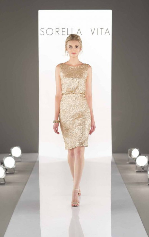 Sorella Vita Sequin Bridesmaid Dress 8823