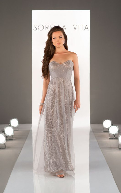 Sorella Vita Sequin Bridesmaid Dress 8684