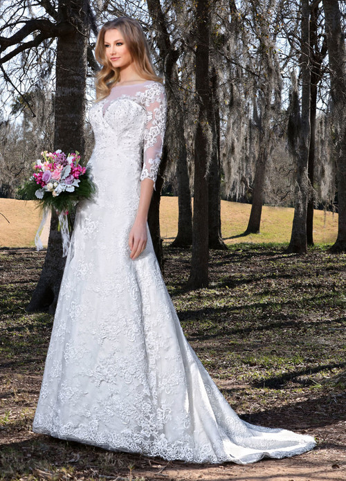 Ashley & Justin Wedding Dress 10431