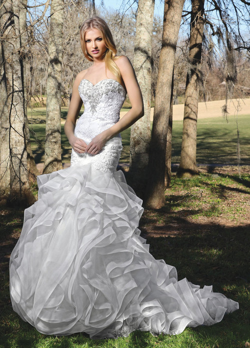 Ashley & Justin Wedding Dress 10435
