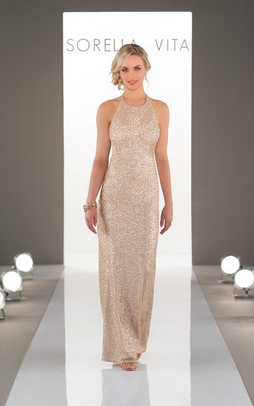 Sorella Vita Sequin Bridesmaid Dress 8846