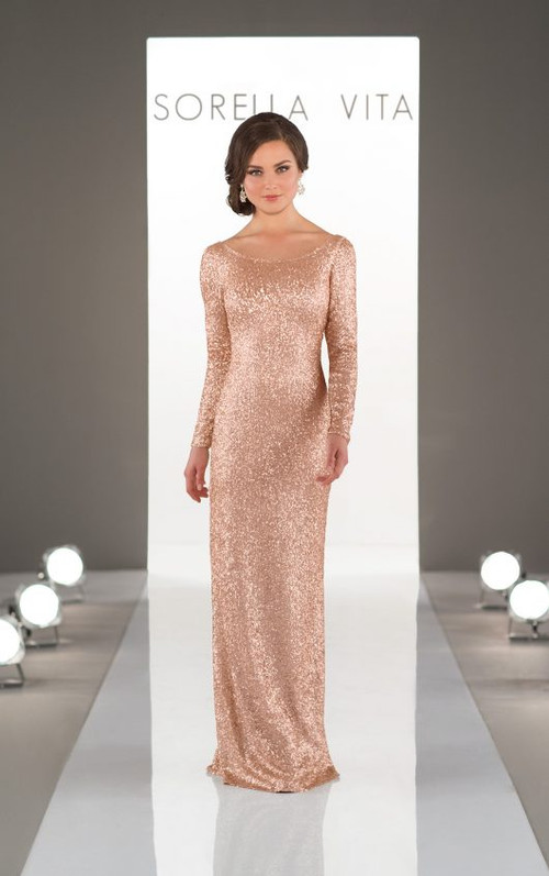 Sorella Vita Sequin Bridesmaid Dress 8848