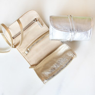 Small Jewelry Roll-Metallics Leather