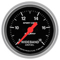 "Auto Meter Sport Comp: Wideband Air/Fuel Ratio ANALOG - 2 1/16"" (52.4mm)"