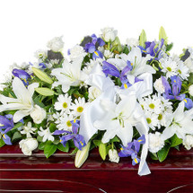 REST IN PEACE - PURPLE AND WHITE